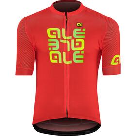 Alé Cycling Solid Mirror Kortærmet cykeltrøje Herrer rød/farverig